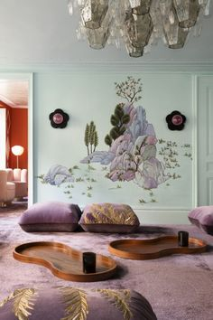 Home Interior Living Room spring color combos.Home Interior Living Room spring color combos De Gournay Wallpaper, Decor Scandinavian, Fabric Houses, Traditional Furniture, Southern Homes, Home And Deco, My Living Room, Cheap Home Decor, Home Decor Accessories