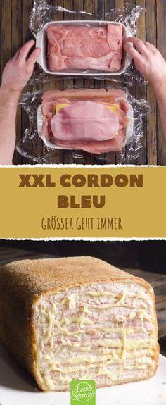 Der Braten fürs Wochenende steht dann schon mal fest. #leckerschmecker #rezept #kochen #fleisch #geflügel #hähnchenbrust #hähnchen #hähnchenfilet #käse #schinken #kochschinken #panieren #frittieren #braten #cordon_bleu #gordon_bleu #schnitzel #gordon #fleischtasche #braten #xxl #groß #riesig #gigantisch #enorm #giant
