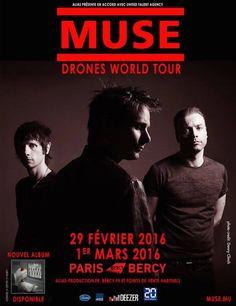 Muse va donc squatter Bercy un peu plus longtemps que prévu...Vu le succès des deux dates, Le 29 février 2016 et le 1er mars 2016, dates déjà affichées complètes, le groupe prolongera le plaisir avec deux nouvelles dates, les 3 et 4 mars 2016. Attention...