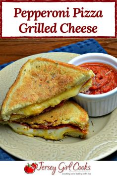 Pepperoni Pizza Grilled Cheese - Jersey Girl Cooks