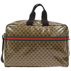 a83c66a585f2 Gucci Monogram Men's Women's Travel Duffle Carryall Weekender Shoulder Tote  Bag