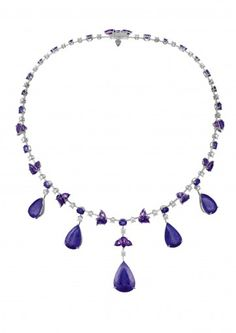 Chopard Necklace An exquisite tanzanite and gem-set necklace