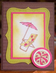 CC208 - Pink Chocolate Kiwi Sparkling Summer by ScrappingMommyof3 - Cards and Paper Crafts at Splitcoaststampers