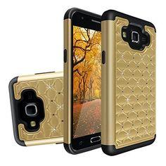 Asnlove per Samsung Galaxy J5 J500 Custodia Case Protettiva Rigida e Lucida Bling Ibrido 2 en 1 Materiale di TPU Flessible e PC Con Strass Cristallizzato-Dorato: Amazon.it: Elettronica