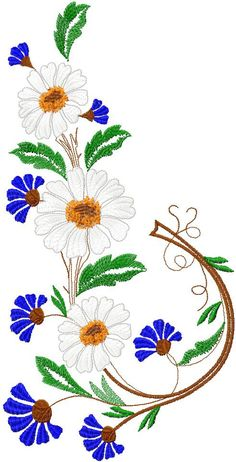 Basil free embroidery design 11 - Flowers free machine embroidery designs - Machine embroidery community