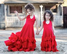 Red Dance To The Rhythm Frock