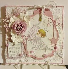 This is a card I made using the Lili of the Valley stamp Cake Glorious Cake that I won in their Theme Thursday Draw