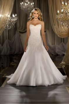 Wedding Dress Photos - Find the perfect wedding dress pictures and wedding gown photos at WeddingWire. Browse through thousands of photos of wedding dresses. Wedding Dresses 2014, Formal Dresses For Weddings, Formal Wedding, Wedding Attire, Wedding Gowns, Wedding Dresses With Bling, Drop Waist Wedding Dress, Weeding Dress, Wedding Dress Sparkle