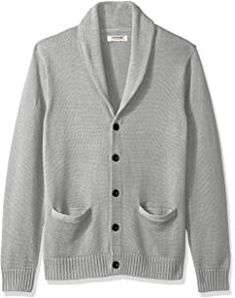 ce016b922133 PAUL JONES Men's Stylish Stand Collar Cable Knitted Button Cardigan Sweater  at Amazon Men's Clothing store: