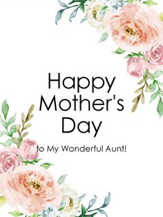 to my wonderful aunt happy mothers day card birthday greeting cards by davia