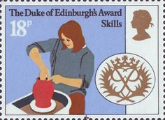 25th Anniversary of Duke of Edinburgh's Award Scheme 18p Stamp (1981) 'Skills'