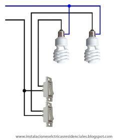 Instalaciones eléctricas residenciales - focos controlados por diferentes apagadores