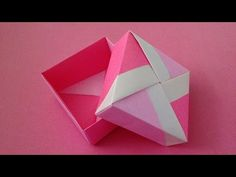 Unit box with lid instructions Origami Unit box . Origami Unit box with lid instructions Origami Unit box . Origami Unit box with lid instructions Origami Unit box . Origami Box With Lid, Box Origami, Origami Box Tutorial, Origami Paper Folding, Origami Dress, Origami Butterfly, Paper Crafts Origami, Creative Gift Wrapping, Useful Origami