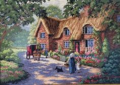 The Postman by Dimensions Gold, counted cross stitch kit