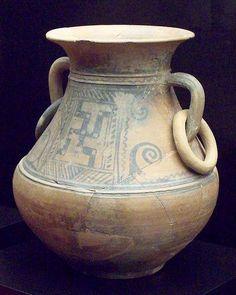 Cruz gamada en cerámica celtibérica.