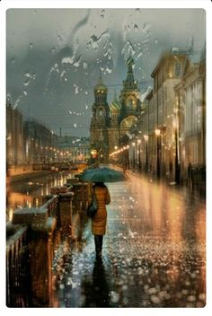 Rusia  Lloviendo