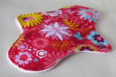 floral cloth pad cotton moderate menstrual by MariposasClothPads, $7.00