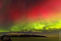 March 2013 aurora near Anchorage, Alaska.