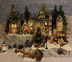 Christmas Snow Village Display Platform Base for Dept 56 Lemax 2 pc