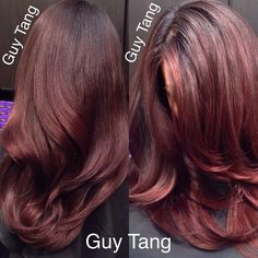 Rich berry tone balayage ombre