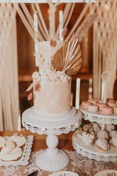Boho Wedding Cake from a Rustic Boho Wedding on Karas Party Ideas | KarasPartyIdeas.com