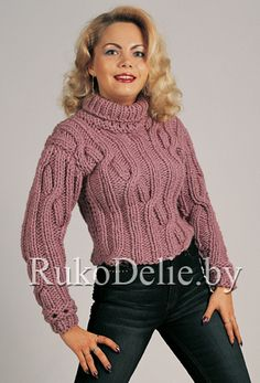 Маленький свитер из толстой шерстяной пряжи