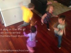 a day in the life of an introverted homeschool mom ~SimpleHomeschool