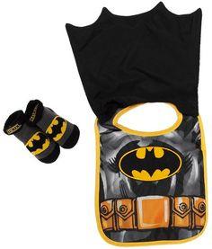 044e14a130239 Batman Caped Baby Bib and Booty Set