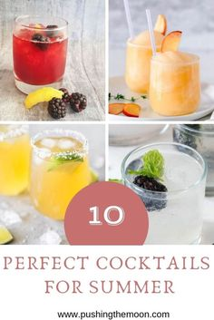 Summer is upon us. For me that mean's spending time in the garden, having BBQ's and drinking perfect cocktails. Here is a round up of ten perfect cocktails. Berry Sangria, Summer Sangria, Summer Cocktails, Passion Fruit Margarita, Frozen Peach Bellini, Rhubarb And Ginger Gin, Rosemary Cocktail, Summer Berries, Sangria Recipes