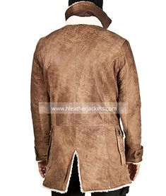 Dark Knight Rises Brown Tom Hardy Bane Coat - Hleather Jackets