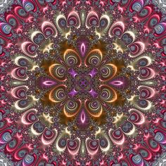 Kaleidoscope based on Kaleidoscope Images, Mandala Coloring, Mandala Art, Mandala Pattern, Psychedelic Art, Fractal Art, Optical Illusions, Cool Patterns, Sacred Geometry