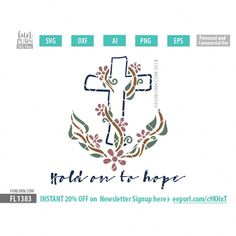 Hold on to Hope SVG