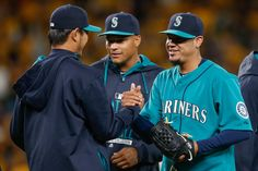 Felix Hernandez in Minnesota Twins v Seattle Mariners