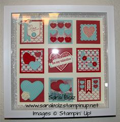 Stampin' With Sara- Shadow Box Valentine