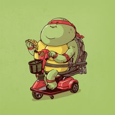 BROTHERTEDD.COM - xombiedirge: Famous Chunkies: TMNT Series by... Fat Cartoon Characters, Alex Solis, Mama Jokes, Pop Art Drawing, Illustrator, Nerd Art, Favorite Cartoon Character, Cute Cartoon Wallpapers, Marvel