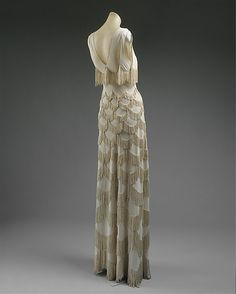 Madame Madeleine Vionnet's scallop fringe dress circa 1938. A fashion legend indeed.
