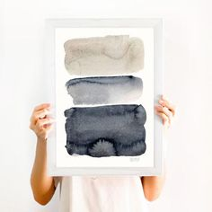 This abstract watercolor painting is from TheClay… Gorgeous neutral abstract art. This abstract watercolor painting is from TheClayPlay on Etsy. Watercolor Art Paintings, Abstract Watercolor, Abstract Wall Art, Painting Abstract, Portrait Paintings, Abstract Portrait, Acrylic Paintings, Watercolours, Minimal Art