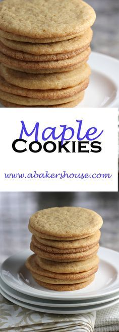 Maple cookies are a basic sugar cookie dressed up with maple flavors using maple syrup. Just enough of a twist to made them stand out. Baking with maple is great for the fall season or year round. Cookie Desserts, Just Desserts, Cookie Recipes, Delicious Desserts, Dessert Recipes, Yummy Food, Galletas Cookies, No Bake Cookies, Yummy Cookies
