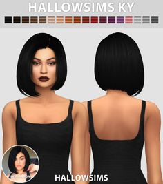 Sims 4 CC's - The Best: KY Hair by HallowSims