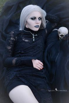 "gothicandamazing: "" Model, styling, photo Magda Corvinus Assistant C. Ioan Wig Black Candy Fashion Necklace Alchemy Gothic Dress Devilnight/ Punkrave Welcome to Gothic and Amazing..."