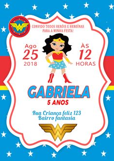 Wonder Woman Birthday, Wonder Woman Party, 6th Birthday Parties, Birthday Party At Home, Batman Party, Hero Girl, Ideas Para Fiestas, First Birthdays, Alice