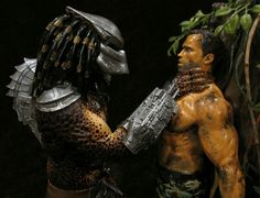 Predator Movie, Dreadlocks, Diorama, Hair Styles, Model, Beauty, Hair Plait Styles, Scale Model