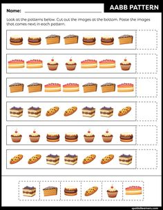 These FREE printable worksheets for kids are great for practicing spatial concepts! These patterns worksheets can be used as homework, bell-ringer activity, warm-up activity, or speech therapy work. Fun activity for your kindergarten or grade 1 students! Preschool Learning Activities, Kindergarten Worksheets, Worksheets For Kids, Free Printable Worksheets, Printables, Pattern Worksheet, Math Patterns, Vocabulary Building, Work Fun