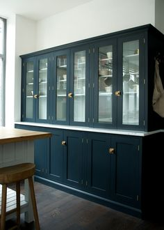 The glazed counter top cupboards by deVOL in our new Clerkenwell shop.