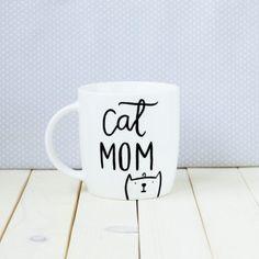 Kubek ręcznie malowany Cat Mom