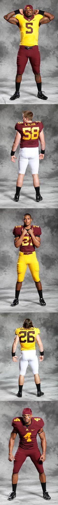 0520efacd University of Minnesota Golden Gophers - 2012 home game football uniforms -  5 pix