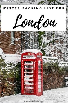 A helpful winter packing list for London with 6 essential items to travel with.  #london #winter #packing #packinglist #travel