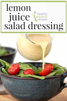 Lemon vinaigrette One of my top dressing recipes: simple lemon juice salad dressing. Not too sour! This is so easy, Sauce Recipes, Vegan Recipes, Cooking Recipes, Drink Recipes, Free Recipes, Chicken Recipes, Tasty Vegetarian, Yellow Squash Recipes, Salad Dressing Recipes