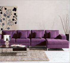 modern purple sectional sofa