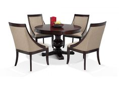 Gatsby Round 5 Piece Dining Set With Side Chairs Dining Room Storage, Dining Room Sets, Dining Room Chairs, Side Chairs, Dining Tables, Cheap Furniture Online, Discount Furniture, Regency Furniture, Luxury Furniture
